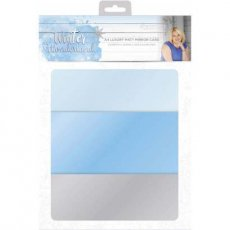 S-WW-MIRRORM Zestaw papierów A4- Winter Wonderland - Luxury Mat Mirror Card