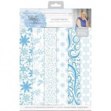 S-WW-PAD4 Zestaw papierów A4- Winter Wonderland - A4 Luxury Foiled Pad