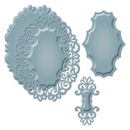 S4-447 Wykrojniki Spellbinders-Heirloom Oval