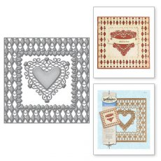 S6-019 Wykrojniki Spellbinders-Laced with Love Lovin' Diamonds