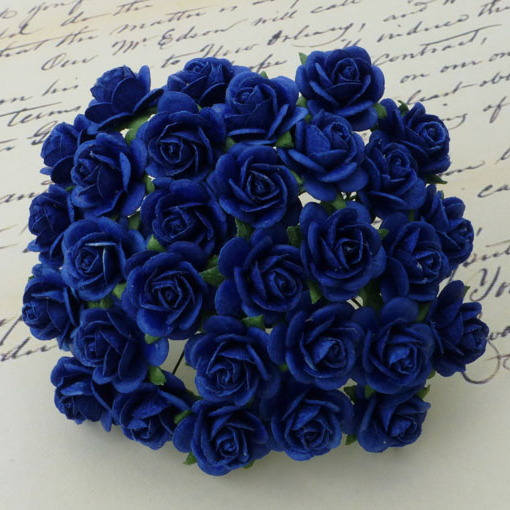 SAA-021 Różyczki royal blue-granat- 10 mm