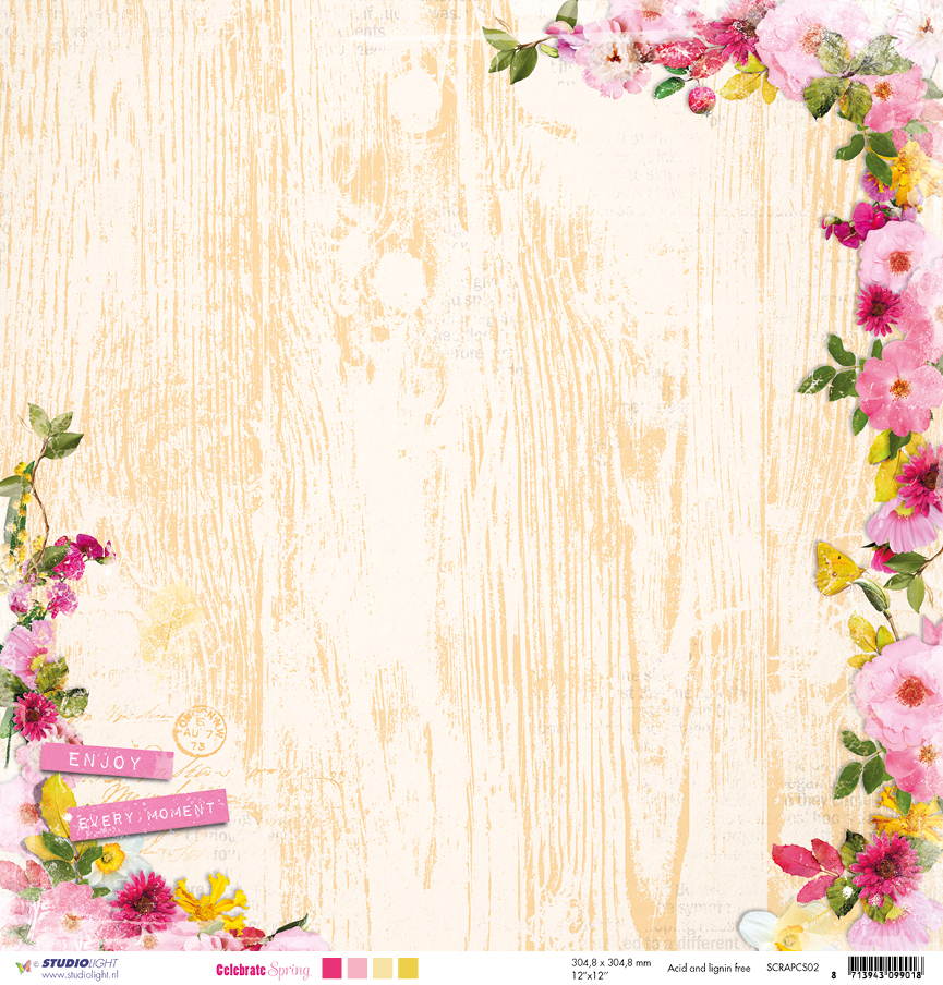 SCRAPCS02 Papier dwustronny Studio Light-Celebrate Spring02