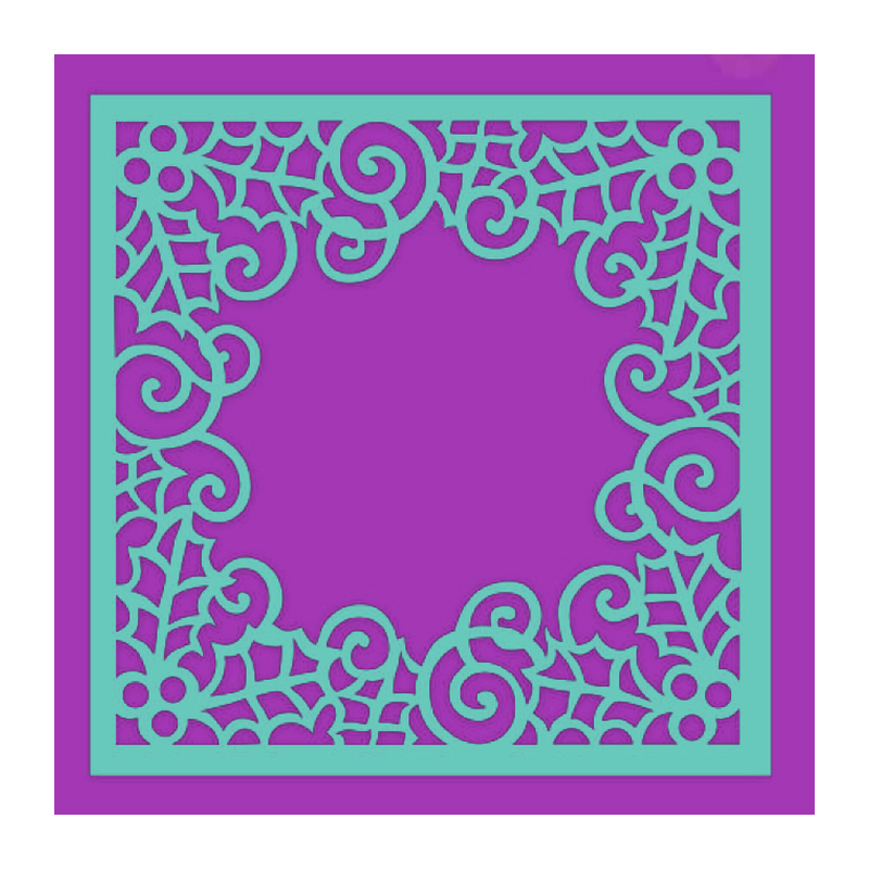 SDST0032 Maska Sweet Dixie - Swirling Holly Frame