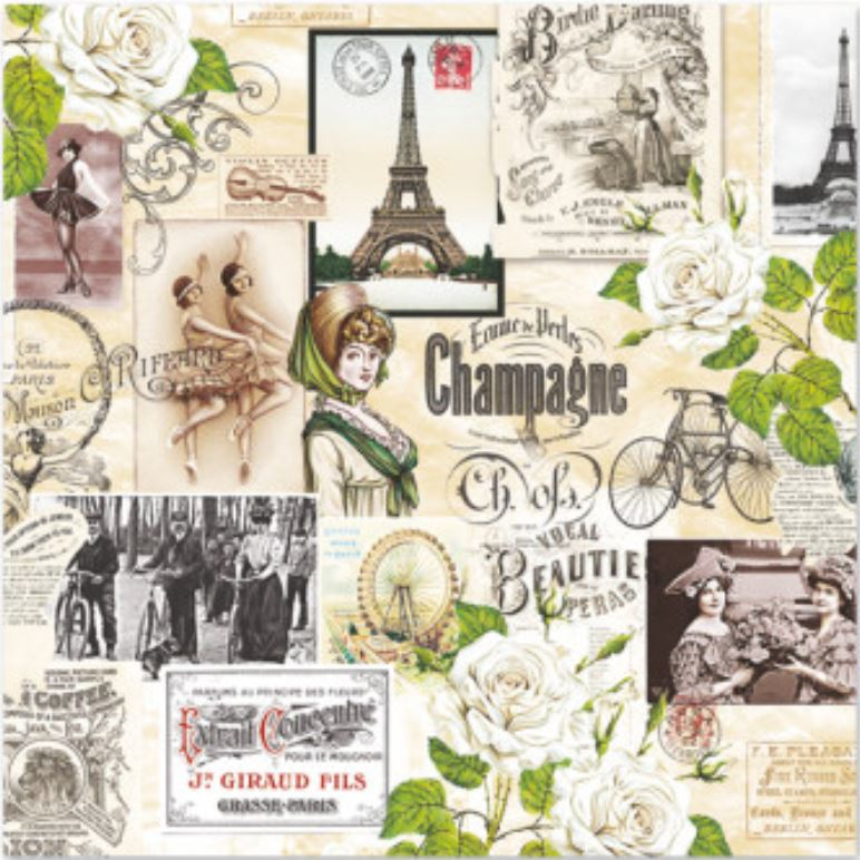 SERW065 Serwetka do decoupage\'u 33x33cm