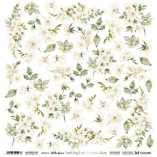 SS3B-12 Simple Story 3 Beige Flowers - Arkusz Do Wycinania