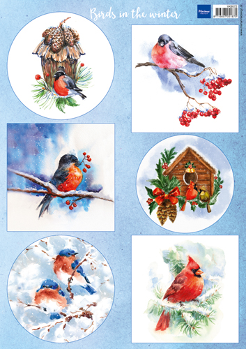 VK9572 Arkusz A4 -Marianne Design -  Birds in the snow