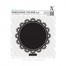 XCU515165 Folder do embossingu 15x15-Lace Circle - ramka koronkowa