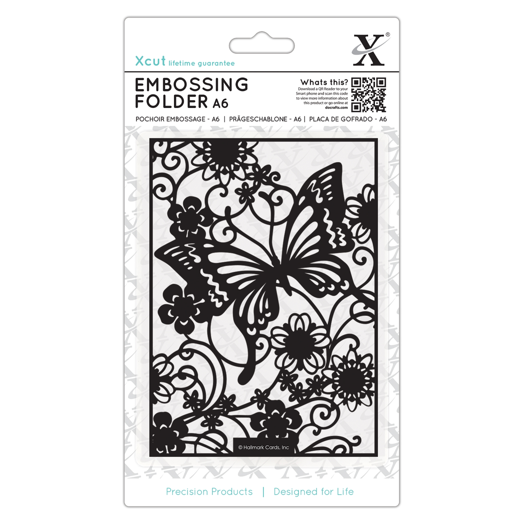 XCU515188 Folder do embossingu - A6 -Butterfly Meadow -motyle