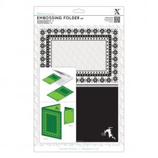 XCU515914 Folder do embossingu - A4 Fairisle Frame -ramka